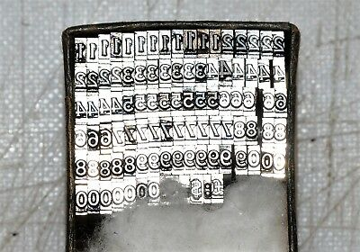 12pt Numbers  Font Metal  letterpress Type ADANA EIGHT FIVE  8 x 5 user