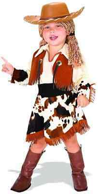 Cowgirl Sheriff Western Rodeo Girl Fancy Dress Up Halloween Child Costume w  Hat cc3f27287ca9