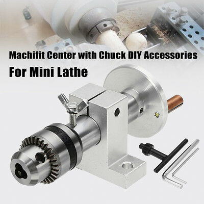 Precision Lathe Live Center w/Chuck Machifit Live DIY Accessories for Mini Lathe