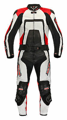 XLS Leather Suit Two Piece Black Red Size 98 102 104 106 110 114 118
