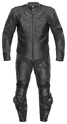 Leather Suit Belezza Racing One Piece Black One-Piece Leather Suit Biker Outfit