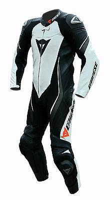 Dainese Trickster Evo C2 Estiva Leather Suit One Piece Black White