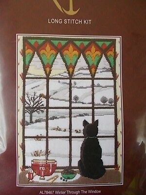 """Tapestry /Longstitch Kit """" Winter Through the Window""""New by Anchor 8.75"""" x 5.75"""""""