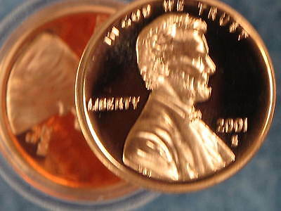 2001-S Lincoln Cent Gem DCAM Proof Roll of 50 coins