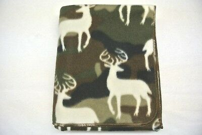 Deer Camo Camouflage Baby Toddler Blanket Can Be Personalized 28x44