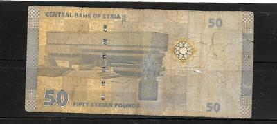 Syria #112 Ag Circ 2009 50 Pounds Banknote Paper Money Currency Bill Note