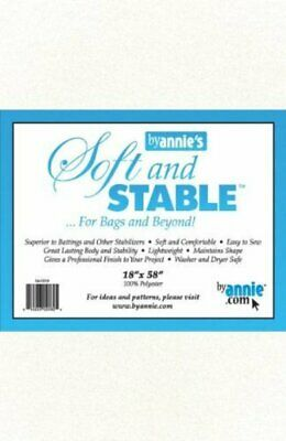 """Soft & Stable Foam-Backed Interfacing 18"""" x 58"""" White"""