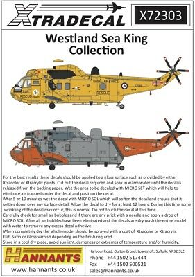 Xtradecal 1/72 Westland Sea King Collection # 72303
