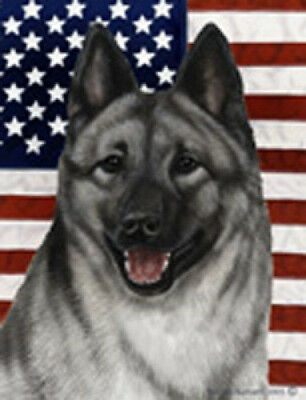 Garden Indoor/Outdoor Patriotic II Flag - Norwegian Elkhound 324031