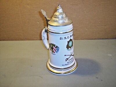 German Beer Stein with Lid  Bayreuth Bamberg.