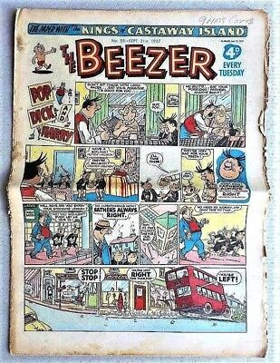 The BEEZER # 88 September 21st 1957 Comic issue