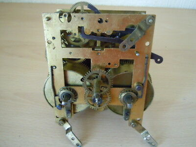 Vintage German Clock Movement For Parts