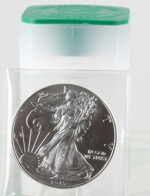 Roll of 20 - 2015 1 oz Silver American Eagle $1 Coin AU (Lot, Tube of 20)C0053