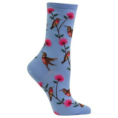 Hummingbird Hot Sox Trouser Crew Socks Coastal Blue New Women Size 9-11 Fashion*