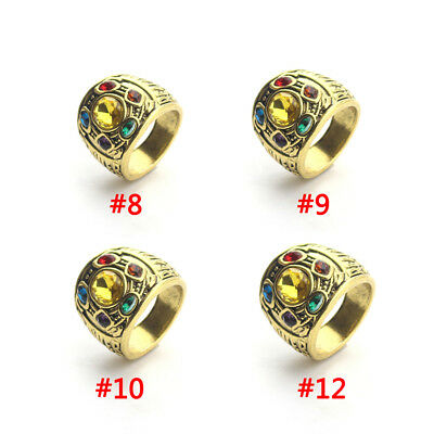 2018 Thanos Infinity Gauntlet Power Rings Avengers The Infinity War Stones