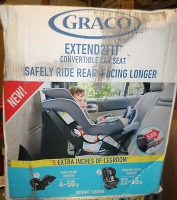 Graco Extend2Fit Convertible Car Seat, Gotham 1963212