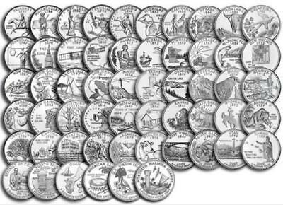 1999-2009 US State Quarters & Territories Complete Set of 56 - ALL DENVER MINT