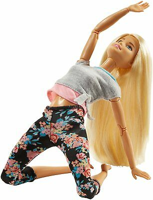 Barbie Made to Move Doll Blonde Pink and Gray Top FTG81