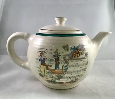 RARE Antique 1880s LIMOGES PV PARRY VIEILLE French Opera William Tell Teapot