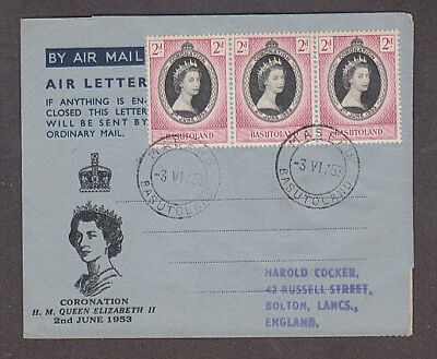 Basutoland - 1953 1st day Coronation cacheted air letter