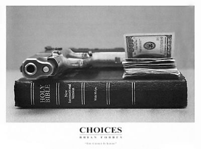 Choices Brian Forbes African American Art Print 8.25x13