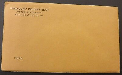 1962 90% Silver United States Mint Proof Set 5 Coins W/ SEALED Envelope #124