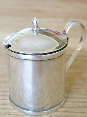 Antique Wang Hing  Chinese Export Solid Silver Mustard Pot & Liner No Reserve