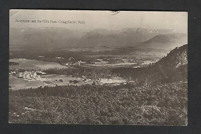 Aviemore And The Hills From Craigellachie Rock.aviemore Rso Postmark 1919 W/f