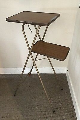 Vintage Two Tier Folding Projetor Table Stand By Arrow