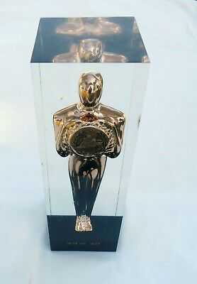 """Vintage 1976 Chevrolet Award Statue """"THE Best of the Best """"  acrylic paperweight"""