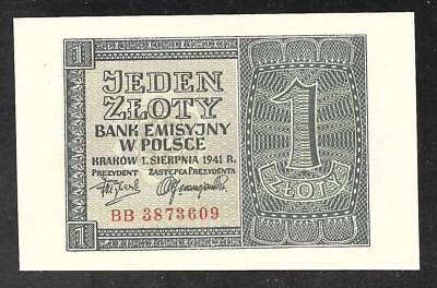 Poland - Old 1 Zloty note - 1940 - P91 - Uncirculated