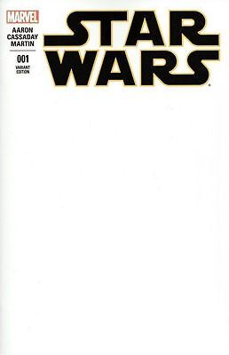 Star Wars  1 Blank Sketch Cover Variant Marvel Comics 2015 movie 1st printing