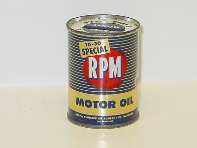 Vintage Motor Oil Can, RPM, Standard Oil, Coin Bank