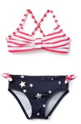 Gymboree Girls Americana Shop Fourth Of July Red White Blue Swimsuit Nwt 5t