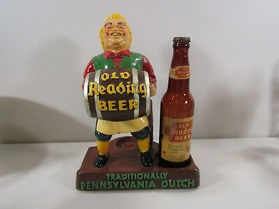 Plasto Old Reading Traditionally Pennsylvania Dutch Beer Bar Counter Display
