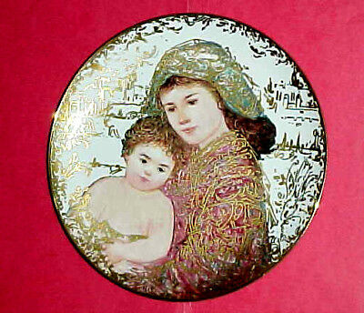 """EDNA HIBEL 1994 holiday plate """"And Unto Us a Child is Given""""  #291 of 750"""