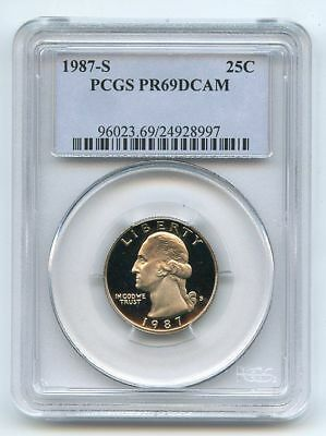 1987 S 25C Washington Quarter Proof PCGS PR69DCAM