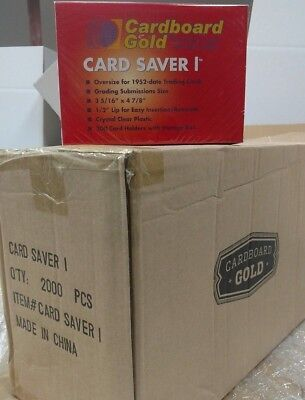 CASE of (2000) Card Saver  One 1 CS1 Semi Rigid Holder - For Grading Submissions