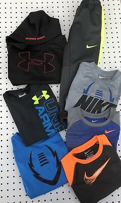Lot 7 Nike Thermal Fit Under Armour Boys L/S Shirts Pants Hoodie 4 5
