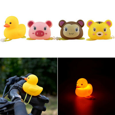 Cute Animal Rubber Kids Bike Bell Ring for Bicycle Handlebar Air Horn Bells
