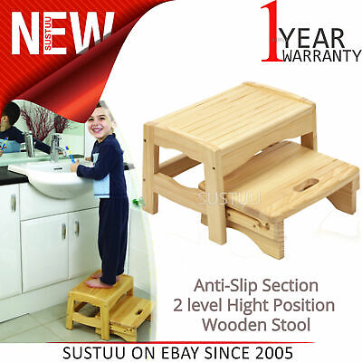 Safety 1st Wooden Step Stool│Anti-Slip Pads│Help Child To Reach The Sink│Max22kg