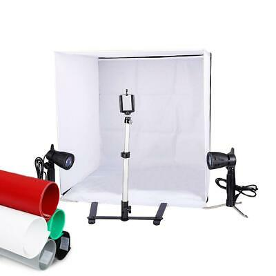 New Lighting In A Box Photo Studio Photography Light Tent Backdrop Kit Cube 24""