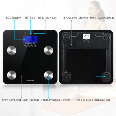 Excelvan BF1201F Body Fat Scale Digital Scale Measuring Weight Fat Muscle Bone