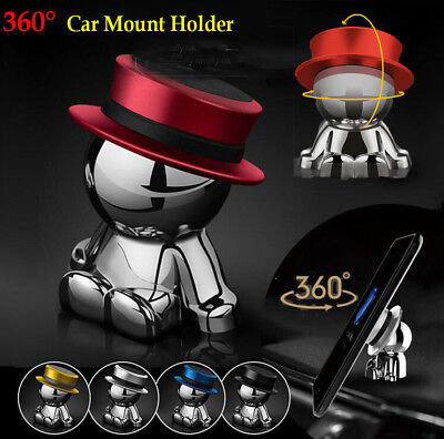 360° Rotation Car Magnetic Holder Mount Hat Man Dashboard Stand For Cell Phone