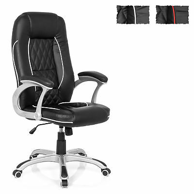 Executive Home Office Chair Sport Seat RELAX AB100 Padded Armrests High Back