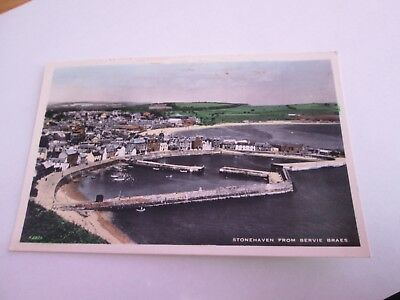 Postcard of Stonehaven from Bervie Braes (unposted RP)