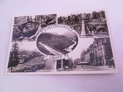Postcard of Crieff (Multiview) RP Posted 1957