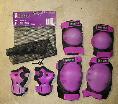 Skating Scooter Knee Elbow Wrist Protection Kit - SMALL size -Rampage brand