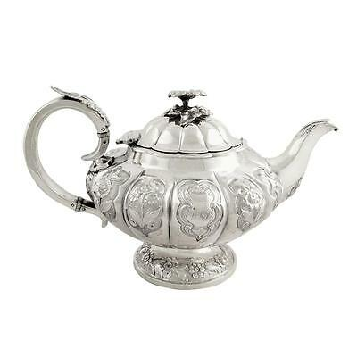 Antique William Iv Sterling Silver Teapot - 1836