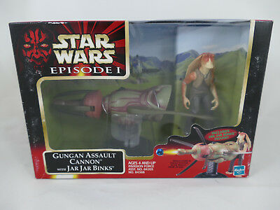 Star Wars Episode 1 Gungan Assault Cannon With Jar Jar Binks Misb
